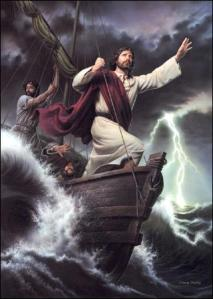 Christ stilling the storm